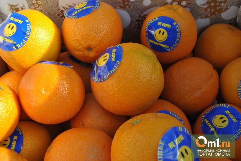 Курящие омичи съели 10 кг апельсинов