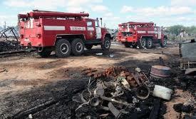 В Омской области на пожаре в трех сараях погиб мужчина