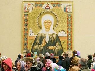 Сегодня в Омск прибудут мощи Матроны Московской