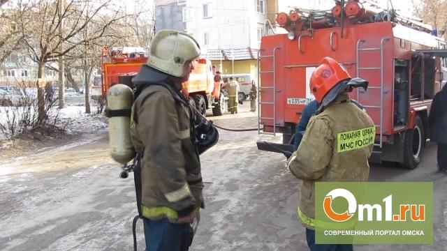 Накануне 12 апреля в Омске на Космическом проспекте был пожар