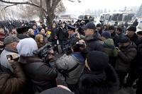 В Казахстане разогнали митинг недовольных девальвацией тенге