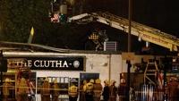 В Шотландии полицейский вертолет упал на крышу паба
