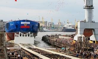 В России спустили на воду самый мощный в мире атомный ледокол
