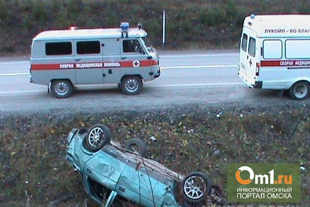 В Омской области на дороге опрокинулся ВАЗ: погиб водитель
