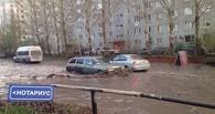В Омске после ливня снова затопило дороги