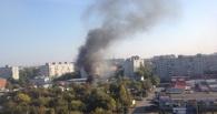 В Омске опять горит частный сектор на улице 10 лет Октября
