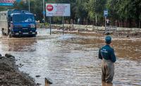 В Хабаровске уровень воды в Амуре спал впервые за время паводка