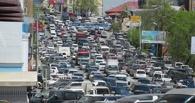 Три ДТП на метромосту спровоцировали огромные пробки в Омске