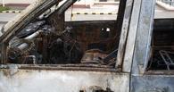 В Омской области взорвался «Nissan» и сгорел гараж