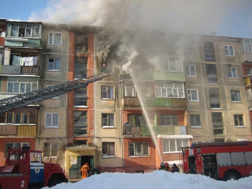 Пожар в пятиэтажке на Куйбышева в Омске обошелся без жертв