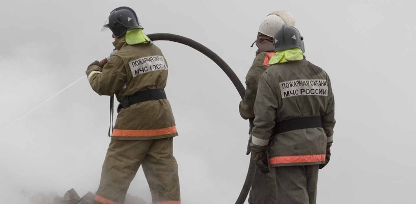 На окраине Омска загорелась грузовая «Газель»