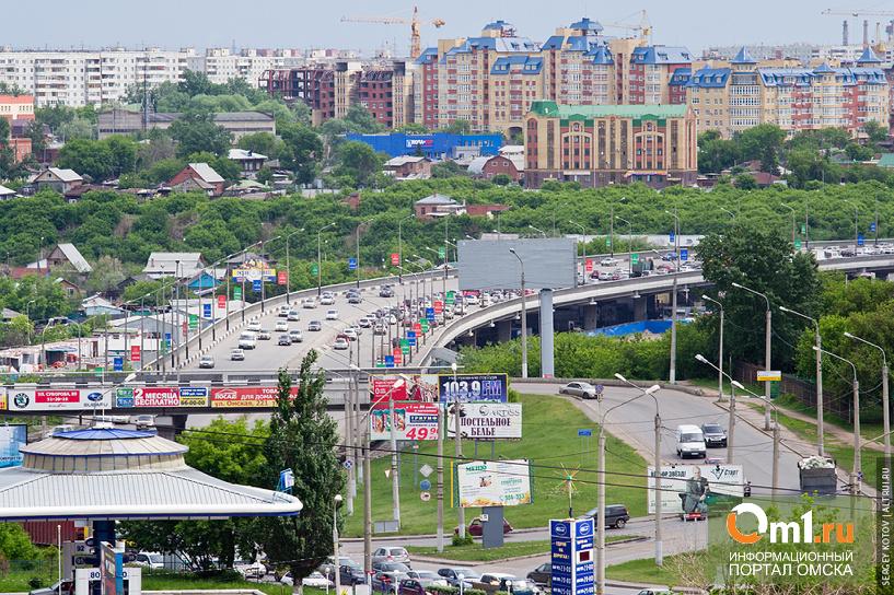 Яндекс: в Омске пробки теперь собирает Фрунзенский мост