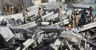 В Омске рухнуло недостроенное здание на 7-й Северной