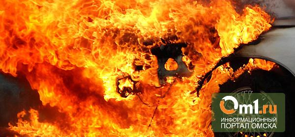 В Омске водитель потушил горящий автомобиль