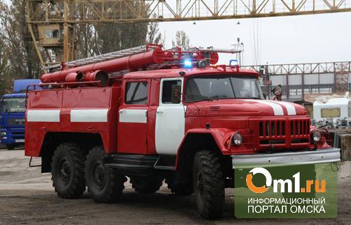 В Омской области горел гараж с 11 машинами
