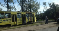 В Омске сошёл с рельсов трамвай №4