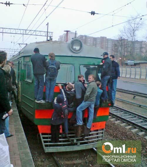 Городская электричка в Омске будет курсировать только 3 раза в день