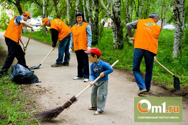 В Омске на уборку города в выходные вышли более 66 тысяч омичей
