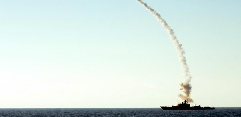 Теперь и с моря: военные опубликовали видео ракетных ударов российского флота по ИГИЛ
