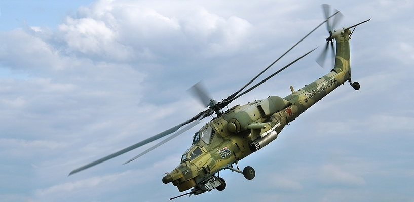 В Сирии упал российский боевой вертолет Ми-28Н. Два пилота погибли