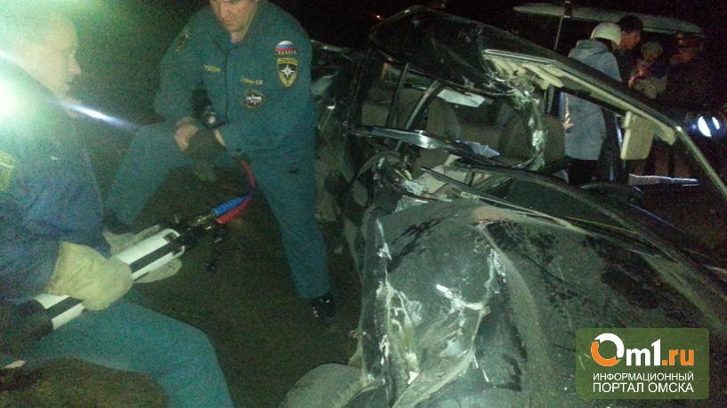На переезде под Омском поезд сбил легковушку: погибло четверо подростков