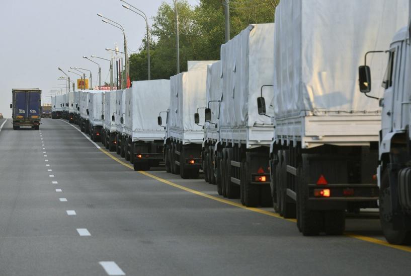 Грузовики с российской гуманитарной помощью пересекли границу с Украиной
