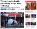Омичка, пострадавшая от надувного стакана Burger King, попала в британское издание