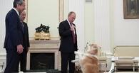 Владимир Путин представил японским журналистам свою собаку породы акита-ину