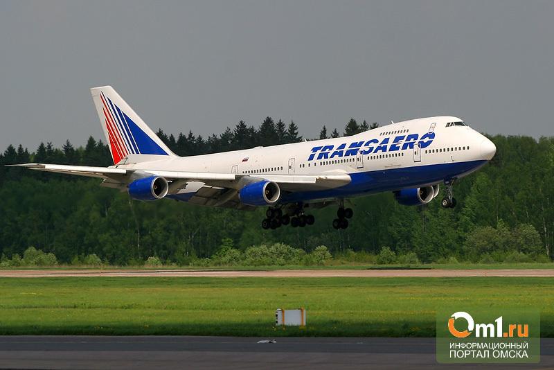 Из омского аэропорта чаще всего улетают самолеты «Трансаэро»