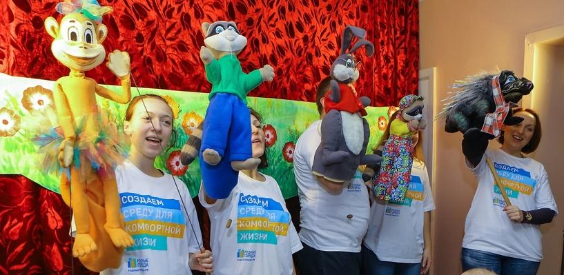 Сотрудники сети АЗС «Газпромнефть» организовали праздничный спектакль для пациентов детской клинической больницы