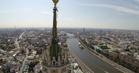 Вандалы «украсили» одну из сталинских высоток в Москве украинским флагом
