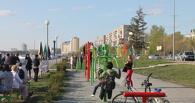 На набережной Омска установили новые уличные тренажеры