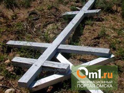 В Омской области двое подростков осквернили 87 могил на кладбище