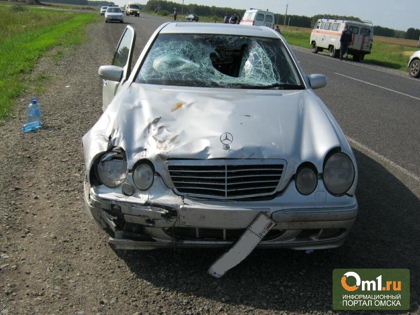 Пенсионер на мопеде погиб под колесами Mercedes Benz под Омском