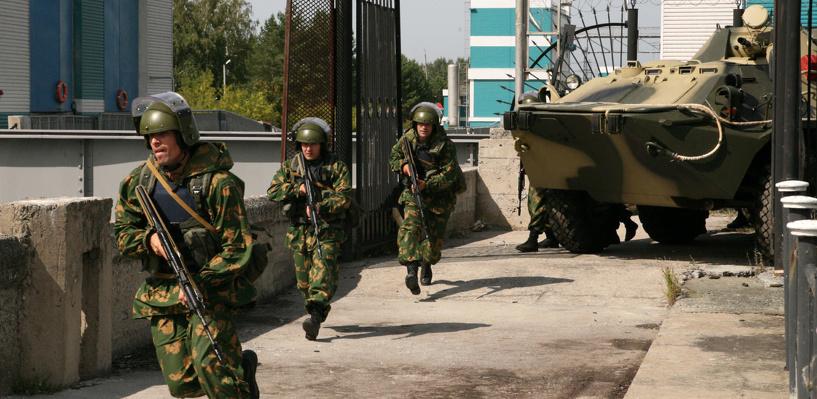 В Омске отрепетировали действия по предупреждению теракта