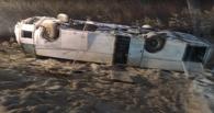 Автобус, следовавший из Омска в Ханты-Мансийск, перевернулся
