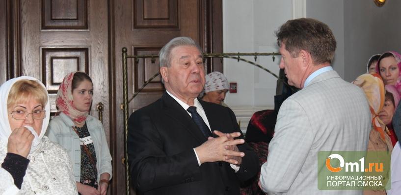 Полежаев приехал проститься с омским митрополитом Феодосием