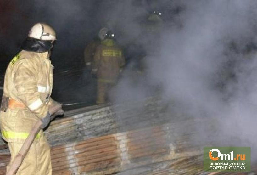 В Омске в Нефтяниках горела сауна