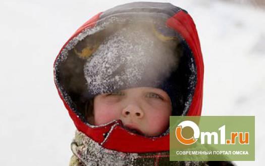 Омским школьникам разрешили пропускать уроки в сильные морозы