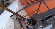 Омские руферы забрались на крышу Музыкального театра (видео)