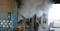 В Омске горел подвал социального рынка на Кирова