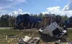 В Омской области фура протаранила грузовик: водитель погиб на месте