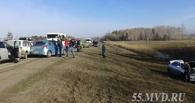 На трассе Омск – Черлак произошло сразу две массовые аварии