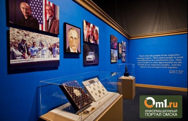 Портрет Путина украсил выставку картин Джорджа Буша-младшего
