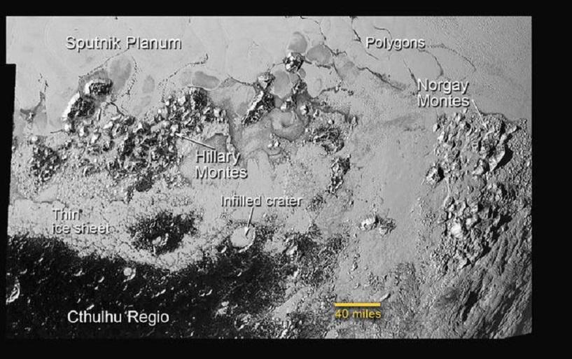 Горы Хиллари и равнина Спутник: NASA показало новое видео поверхности Плутона