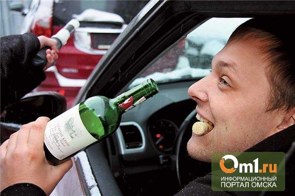 В Омске пьяный водитель влетел в остановку