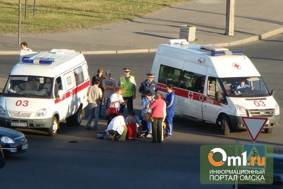 В Омске автоледи сбила ребенка