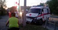 Авария в Омске — автоледи не уступила дорогу автомобилю скорой помощи