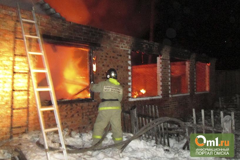 Ночью в Омской области сгорел акушерский пункт