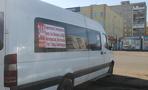 У остановки «11-й микрорайон» в Омске загорелось маршрутное такси